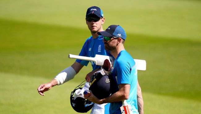 Jimmy Anderson (right) is hoping to play alongside Stuart Broad (left) when he equals Alastair Cook's record