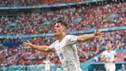 Patrik Schick and the Czech Republic will look to cause another upset against the entertaining Danes