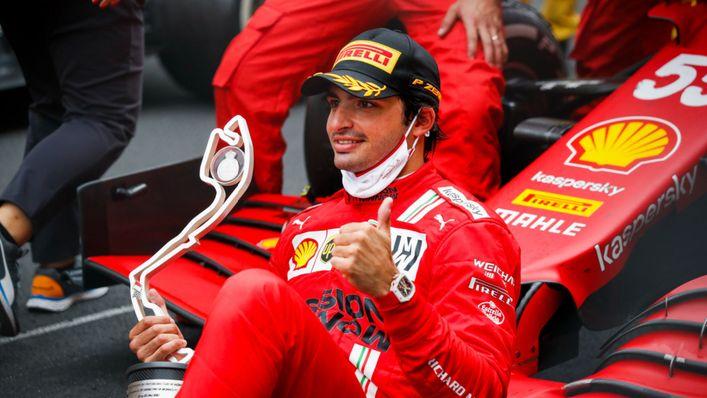 Carlos Sainz claimed second place for Ferrari in Monaco