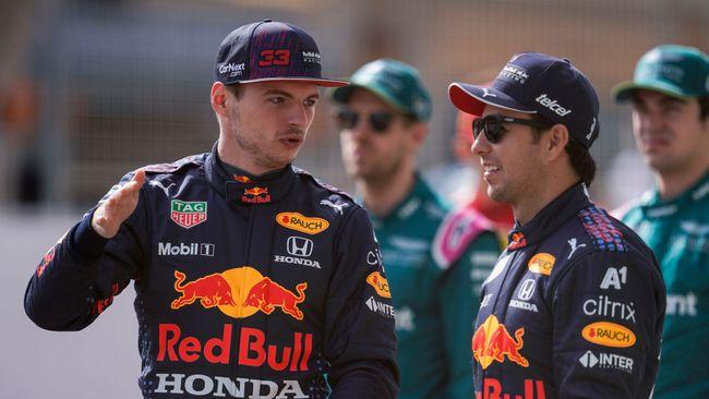 Red Bull team-mates Max Verstappen and Sergio Perez