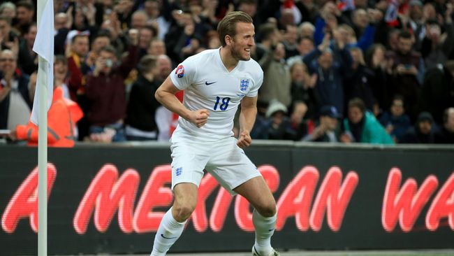 Kane's first England goal came on his debut against Lithuania in 2015