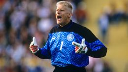 England's attack were unable to find a way past Peter Schmeichel when they faced Denmark at Euro 92