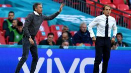 Luis Enrique (left) and Roberto Mancini (right) will do battle once again this evening in the Nations League