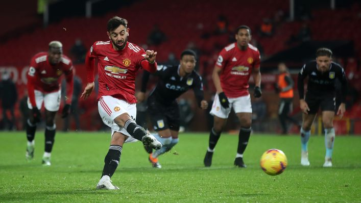 Bruno Fernandes has scored two winning goals in two games against Aston Villa