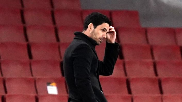 Mikel Arteta is under huge pressure after Arsenal's Europa League exit
