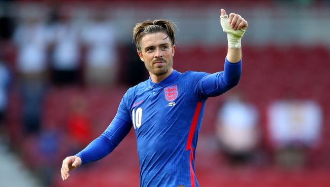 Jack Grealish is one of the contenders to play alongside Harry Kane for England in Euro 2020