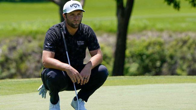 Jon Rahm was six shots clear of the field when forced to withdraw from the Memorial Tournament on Saturday