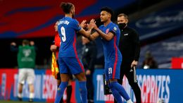 Arsenal are set to target England pair Dominic Calvert-Lewin (left) and Ollie Watkins (right)