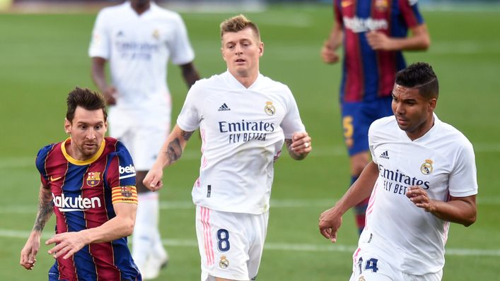 Lionel Messi and Co tackle Real Madrid on Saturday evening
