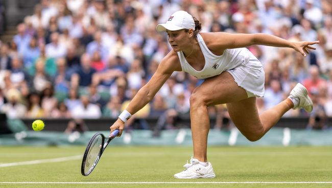Ash Barty fought back from 5-2 down to win the second set on tiebreak