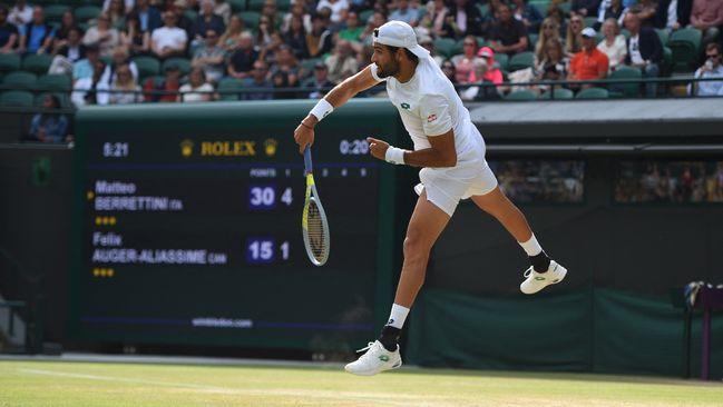 Matteo Berrettini will hope his powerful serve will cause Novak Djokovic problems on Sunday