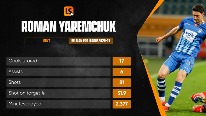 Roman Yaremchuk has joined Benfica after impressing for Ukraine at Euro 2020