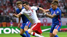 England kept close tabs on Robert Lewandowski all evening