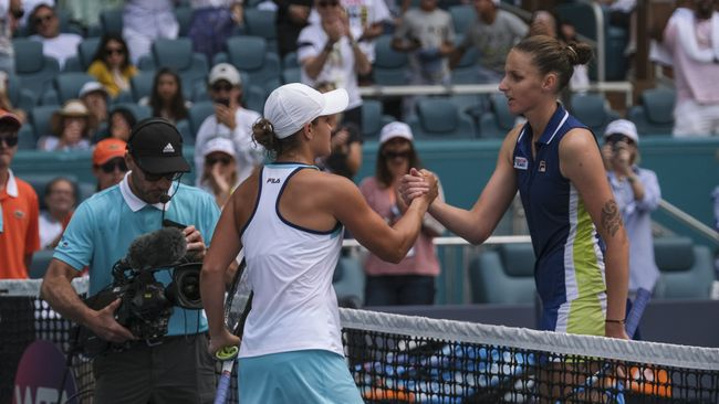 Ashleigh Barty and Karolina Pliskova have met on seven previous occasions