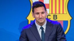 Lionel Messi was emotional at his final Barcelona press conference