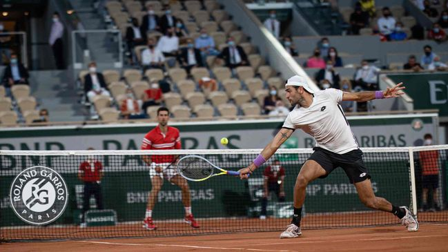 The pair met in last month's Roland Garros quarter-final with Novak Djokovic prevailing in a tight contest