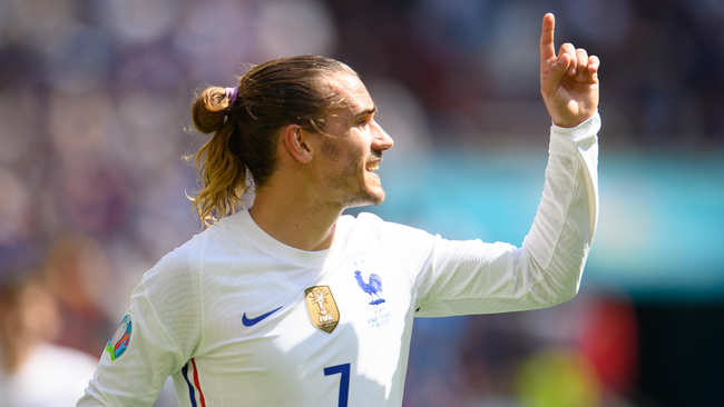 France forward Antoine Griezmann scored once at Euro 2020 – in a draw with Hungary in the group stages