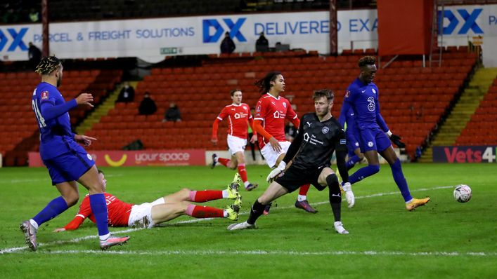 Tammy Abraham's only goal under Tuchel came in a 1-0 FA Cup victory at Barnsley