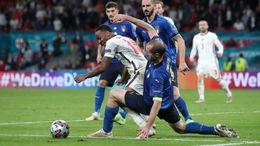 Italy captain Giorgio Chiellini shackles Raheem Sterling