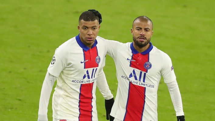 Kylian Mbappe (left) and PSG will look to book their spot in the Champions League semi-finals tonight