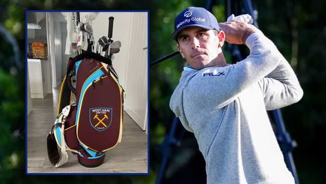 Billy Horschel will give a debut to his West Ham golf bag at the 149th Open this week