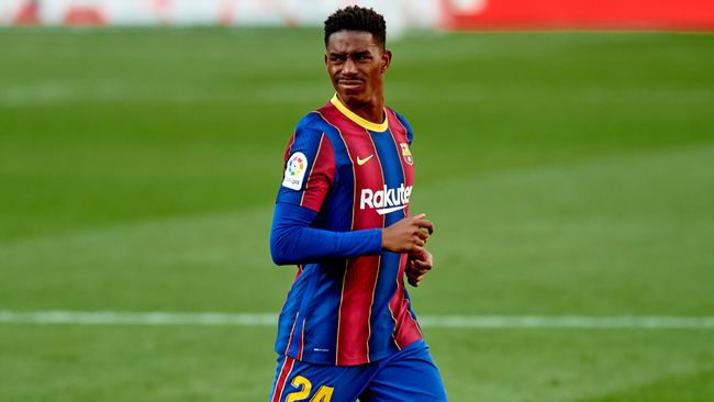 Barcelona's financial difficulties saw them sell Junior Firpo for just £13million to Leeds