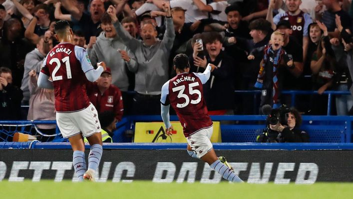 Cameron Archer scored a wonderful header to level Villa's Carabao Cup tie against Chelsea