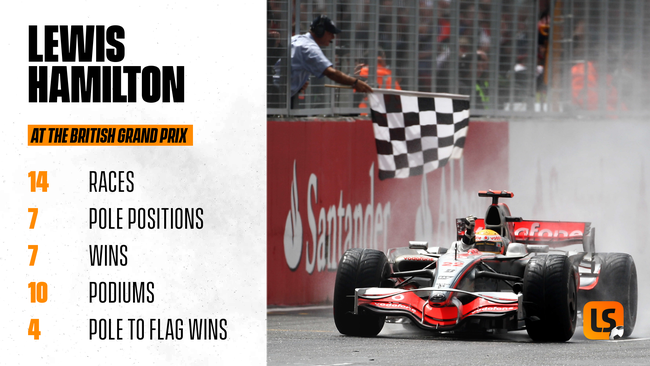 Lewis Hamilton has won a record seven British Grands Prix