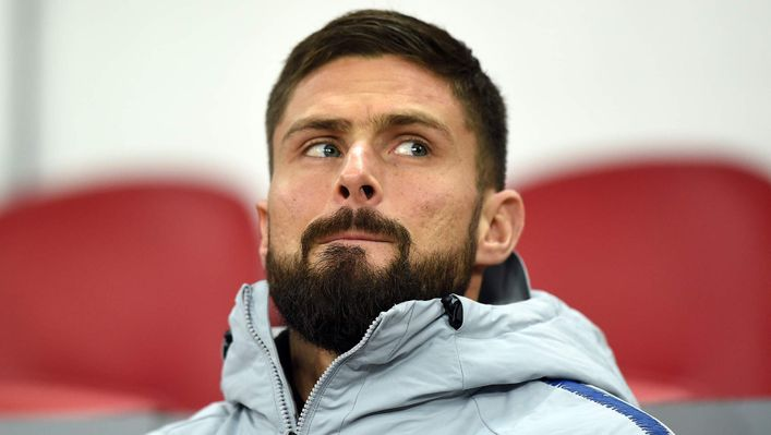Olivier Giroud cannot hold down a place in Chelsea's starting XI