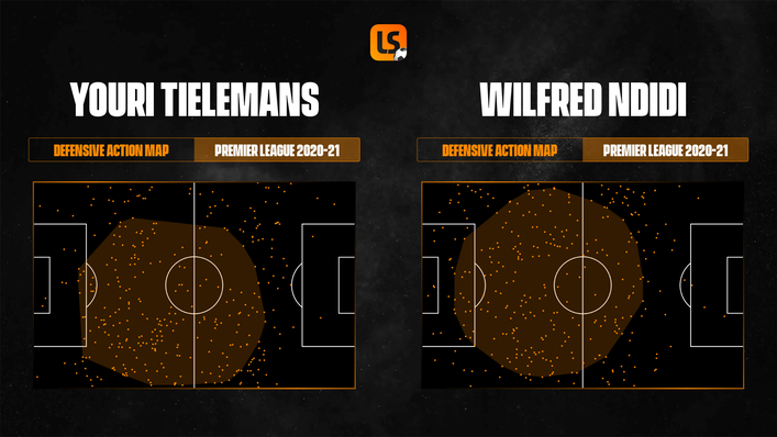 Youri Tielemans and Wilfred Ndidi dominated large areas of the pitch for Leicester last season