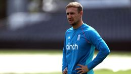 Liam Livingstone was forced off the field in England's warm-up game with India