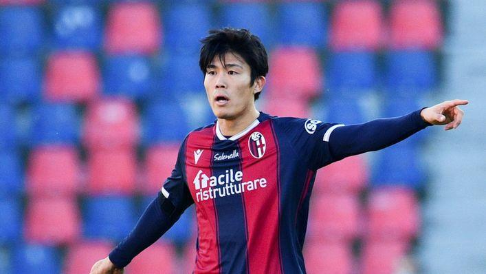 Takehiro Tomiyasu is believed to be on Tottenham's wanted list