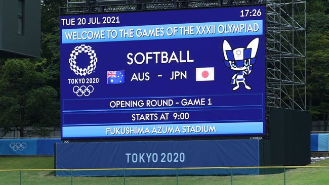 The first event at Tokyo 2020 is the women's softball, two days ahead of the opening ceremony