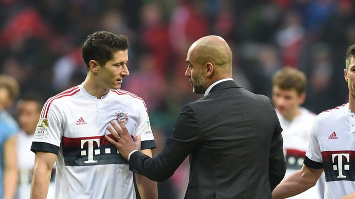 Robert Lewandowski may link up with Pep Guardiola again at Manchester City