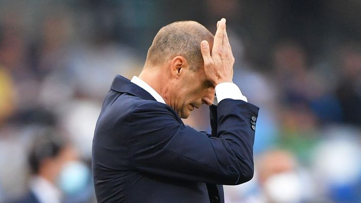 Juventus boss Max Allegri is under pressure after a winless start in Serie A