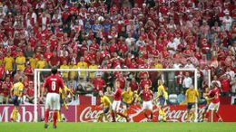 Sweden and Denmark's draw secured passage to the quarter-finals for both teams at Euro 2004