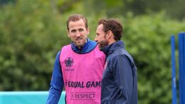Harry Kane (left), Gareth Southgate (right) and England need to win to secure top spot in Group D