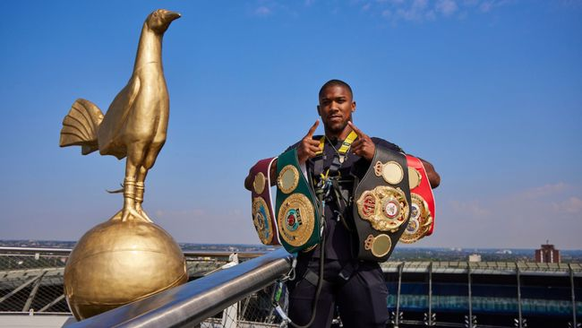 Anthony Joshua is ready to defend his gold at the Tottenham Hotspur Stadium (Pic: Mark Robinson/Matchroom Boxing)