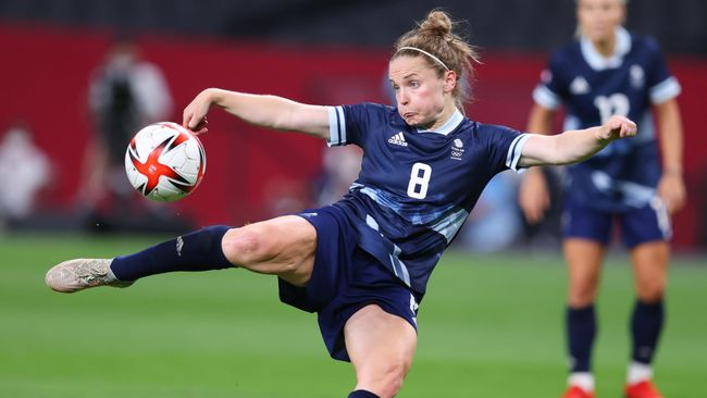 Scotland's Kim Little was a powerful force in midfield for Team GB