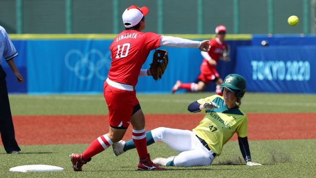 Hosts Japan beat Australia 8-1 in the opening round of softball matches at the Tokyo 2020 Olympic Games