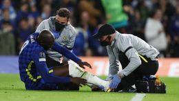 Romelu Lukaku limped off the pitch against Malmo in the Champions League