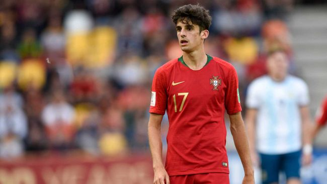 Francisco Trincao received plaudits for his exploits with Portugal in youth football