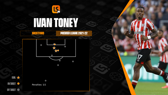Ivan Toney knows exactly where he needs to be in order to be effective for the Bees