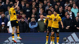 Hee-Chan Hwang celebrates scoring his fourth goal since joining Wolves