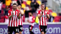 Henrik Dalsgaard (left) and Marcus Forss (right) will hope Brentford can put last season's disappointment behind them