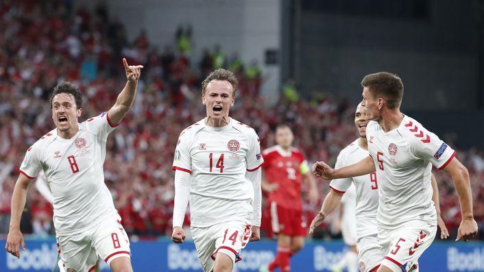 Denmark's Mikkel Damsgaard has been one of the stars of Euro 2020