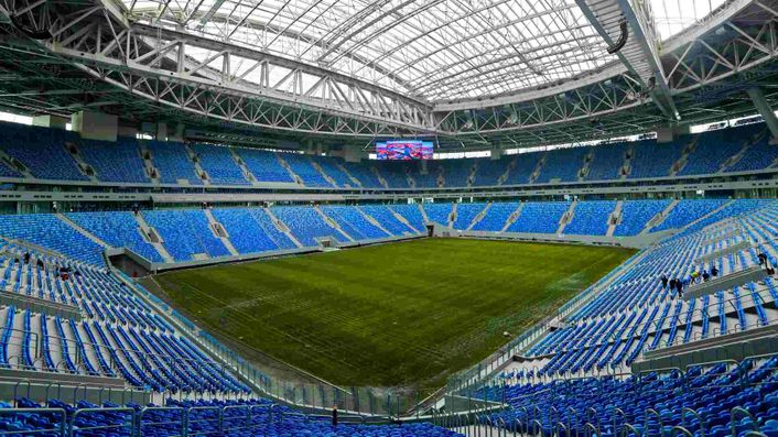 The Krestovsky Stadium in Russia is this season's Champions League final venue