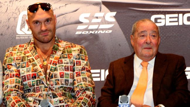 Tyson Fury is promoted by Bob Arum in the US