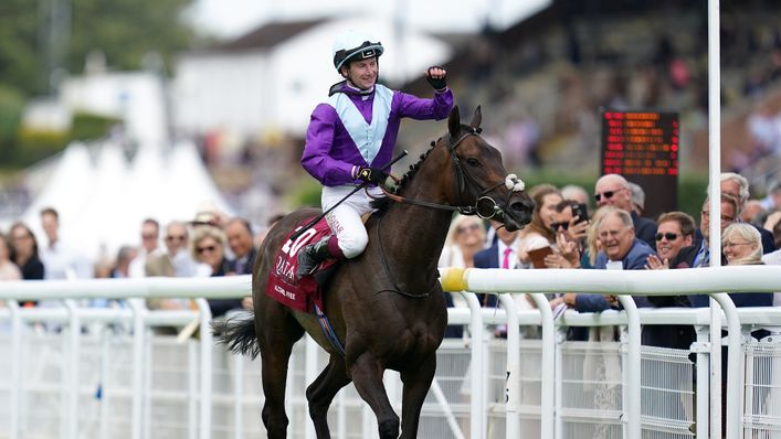 Alcohol Free came home first at the  Sussex Stakes