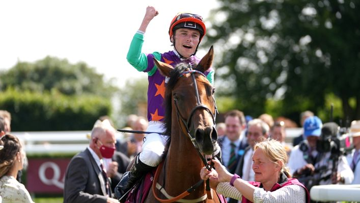 Kieran Shoemark celebrated his first Group One success on board Lady Bowthorpe